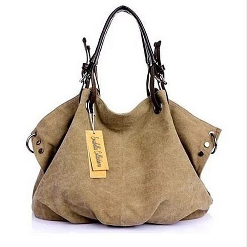 bca2674772e4 Buy JOURNEY COLLECTION Canvas Handbag by Vista Shops on OpenSky  48