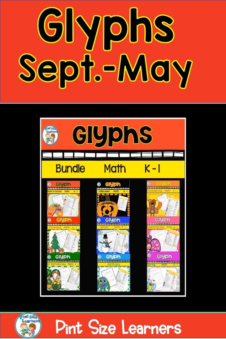 This Year Long Glyph Bundle covers the entire school year! You receive 10 seasonal glyph activities with instructions. You also receive everything you need for your students to practice analyzing the data collected on the class glyphs. Your kindergarten, 1st grade, or 2nd grade students will love them!