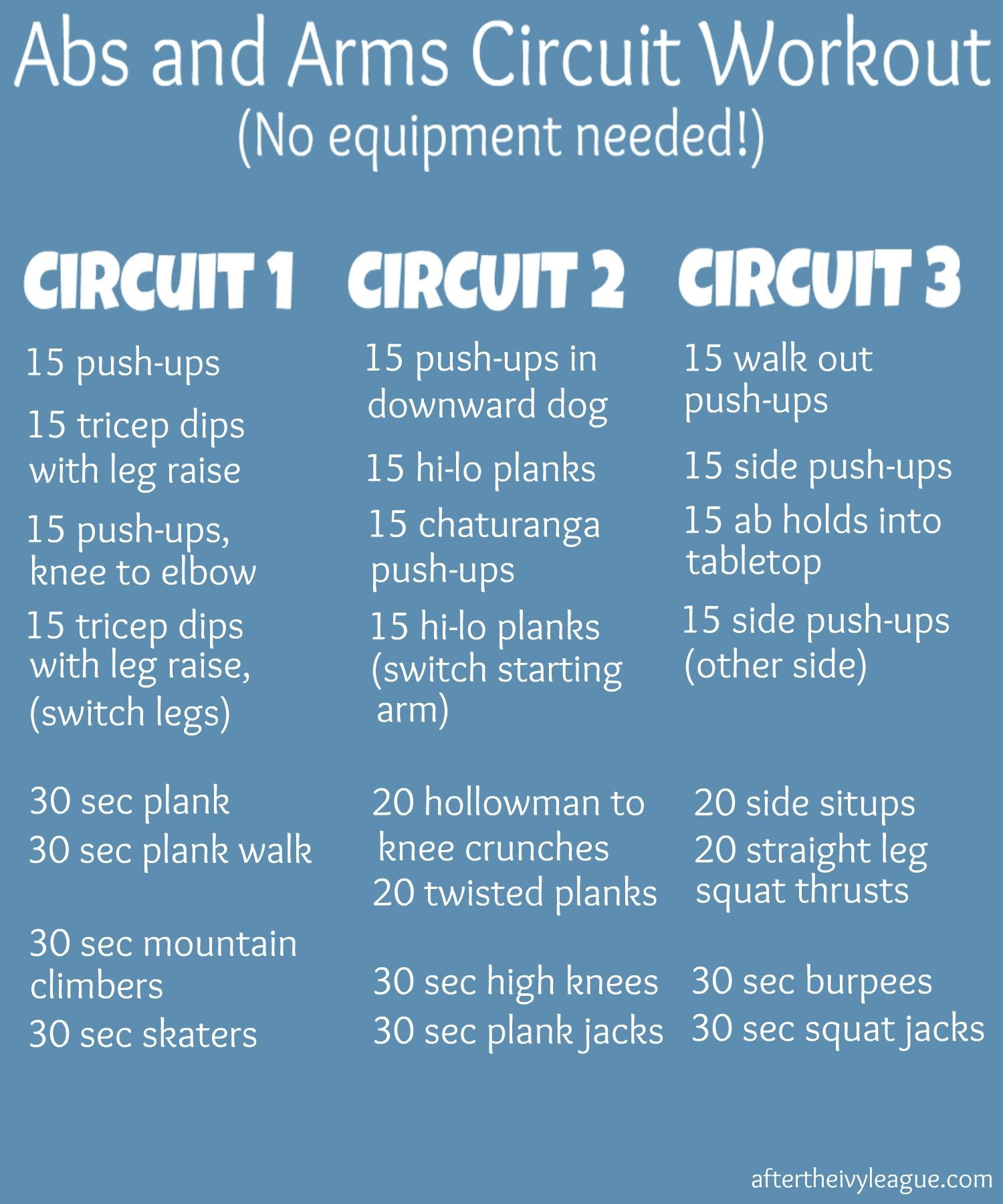 Abs and Arms Circuit Workout - Oh yeah that will do it... but do it ...