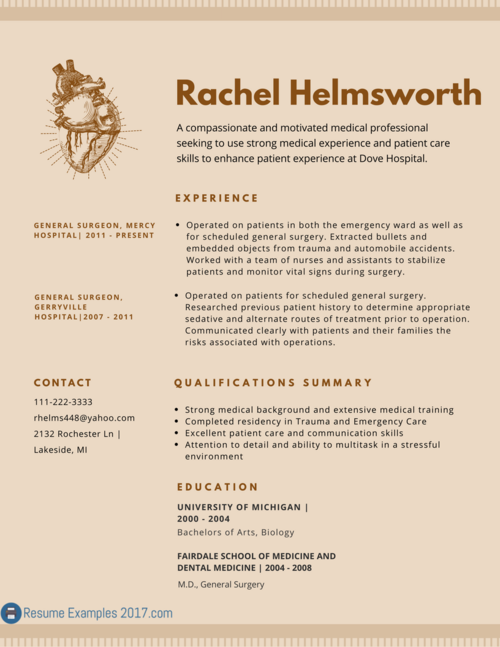 2017 Resume Examples Perfect Medical Resume Sample 2017 Can Be Hard To Findluckily All