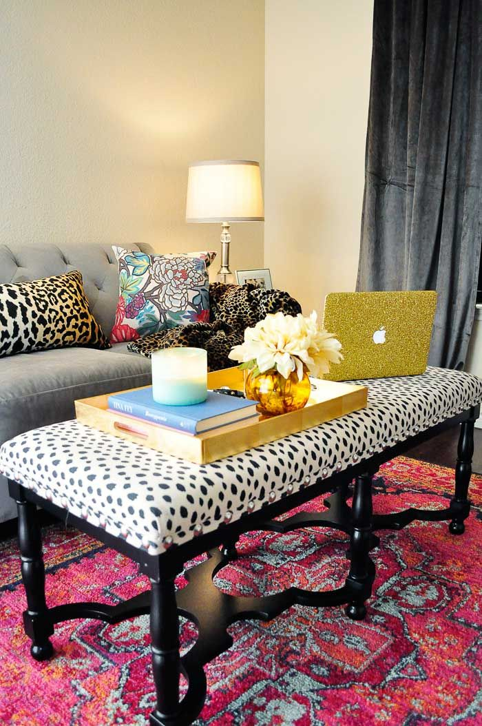 Decorating an Apartment Living Room Glam living room