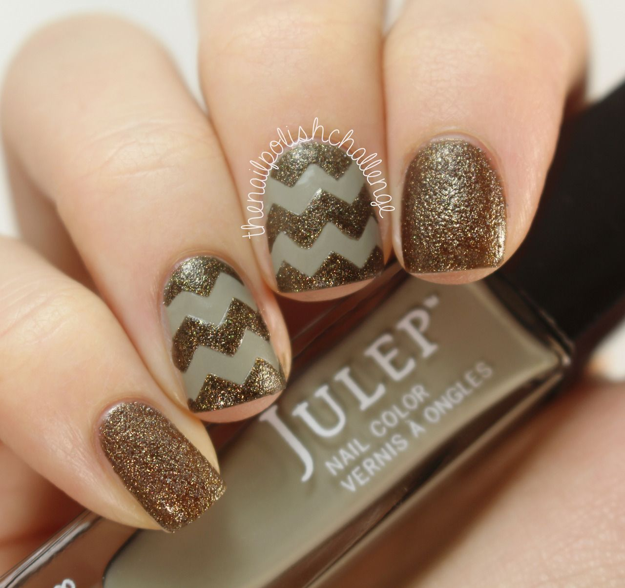 Chevron nail art. Want to know how I got such neat lines? Check out the blog post here.