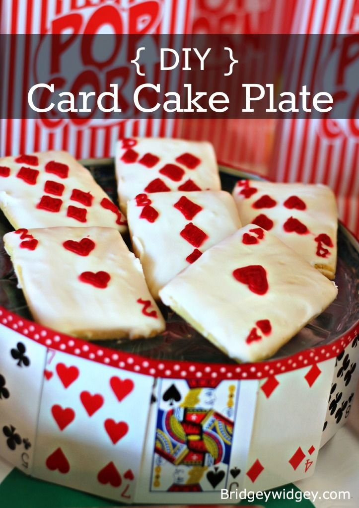 Do it yourself card cake stand for under 2 dollars perfect for a do it yourself card cake stand for under 2 dollars perfect for a game night solutioingenieria Images