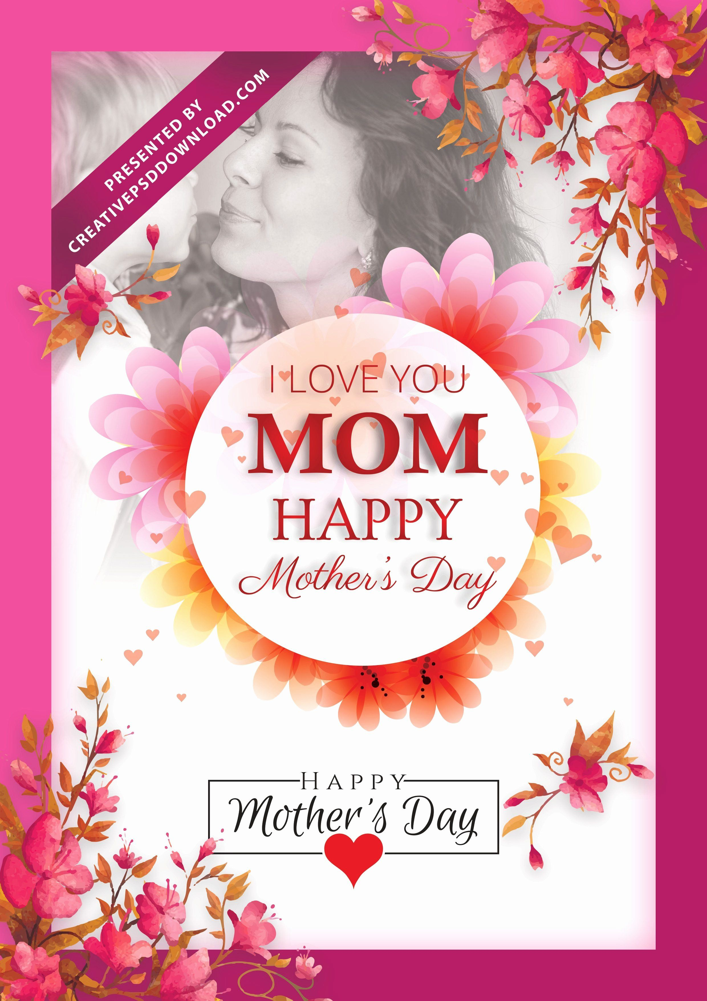 Mother Day Flyer Template Free Elegant I Love You Mom Happy Mothers Day Flyer Template Psd Free Flyer Free Psd Template Free Happy Mothers Day Mother day flyer template free