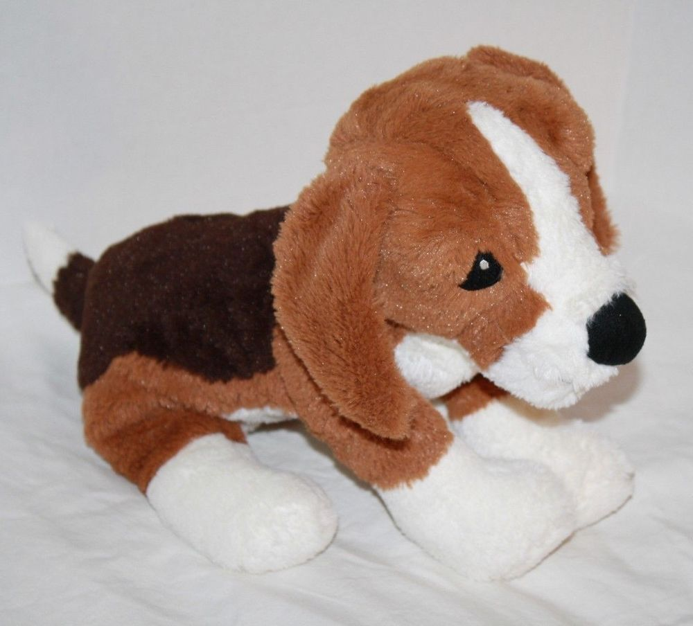 Ikea Gosig Valp Beagle Dog Plush Stuffed Puppy Animal Brown White