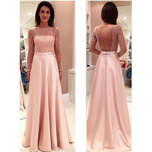 Outlet Glamorous Long Sleeveless Open Back Prom Dresses Evening ...