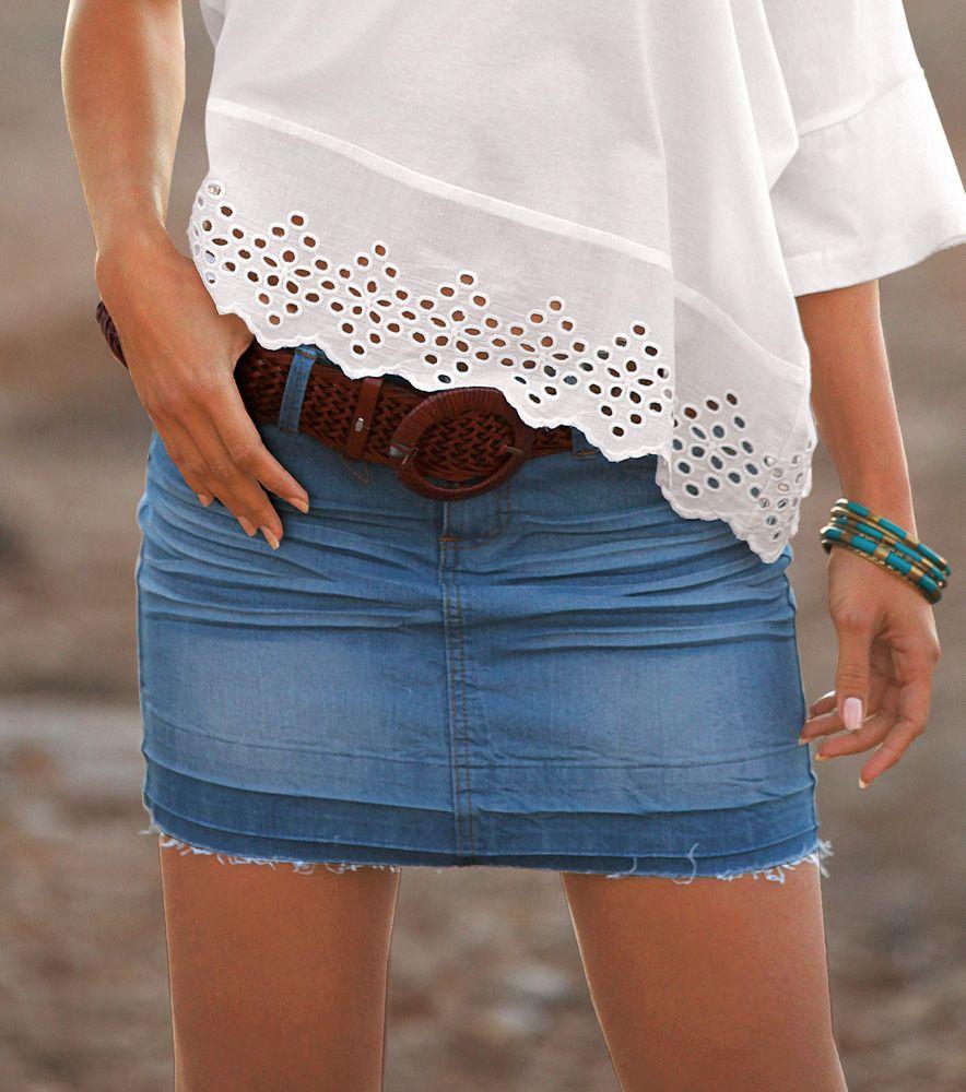 10 Venca Vaquera Moda Mujer Mini Elástica Falda Deshilachada x0OCwCq4Y