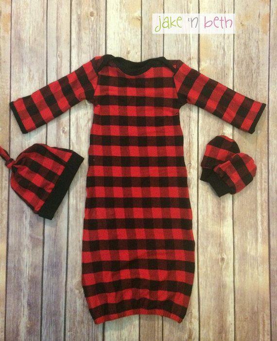 9d3ad07dd04537 Buffalo plaid baby gown