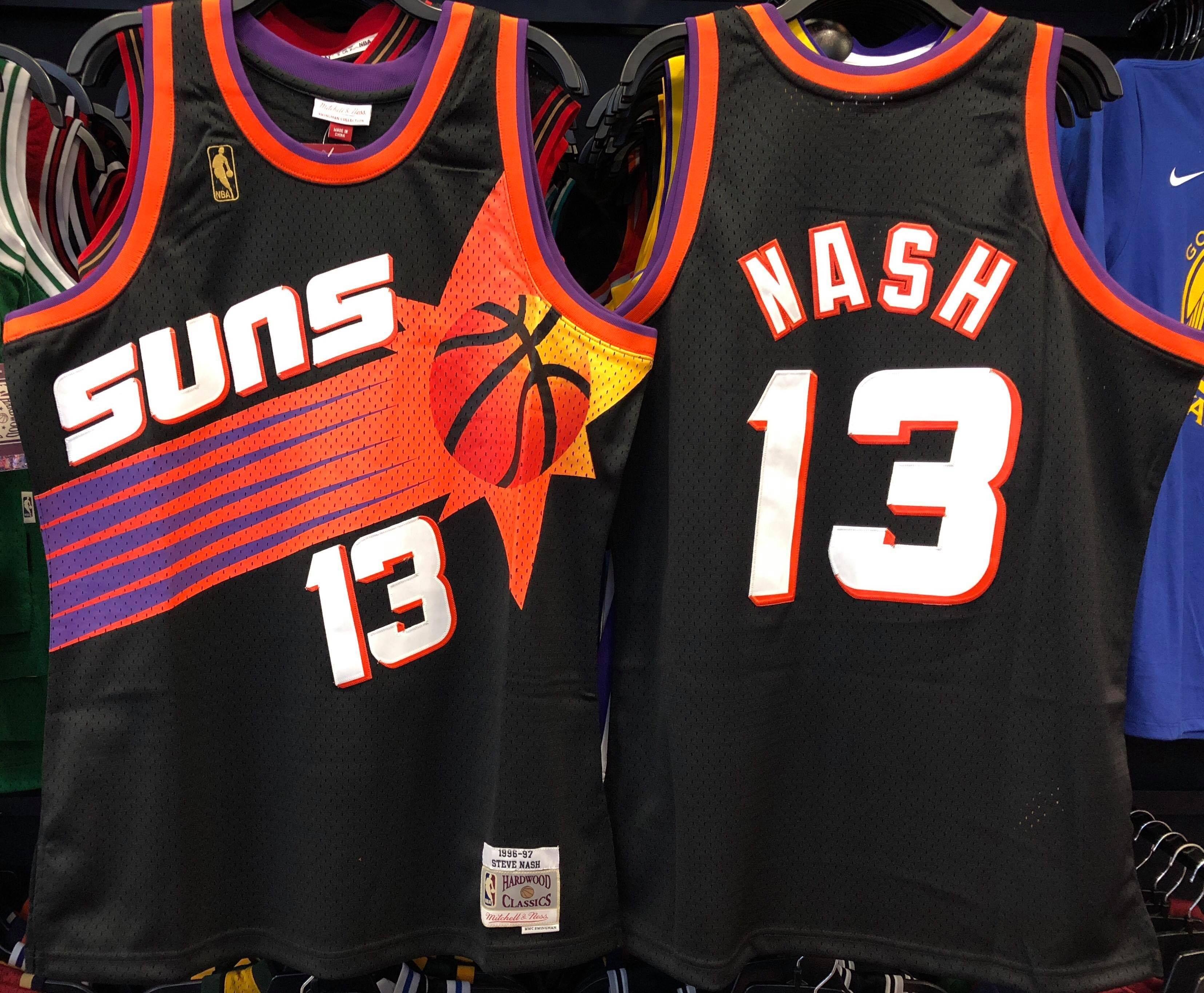 f8c64fa57 STEVE NASH PHOENIX SUNS NBA HARDWOOD CLASSICS THROWBACK SWINGMAN JERSEY