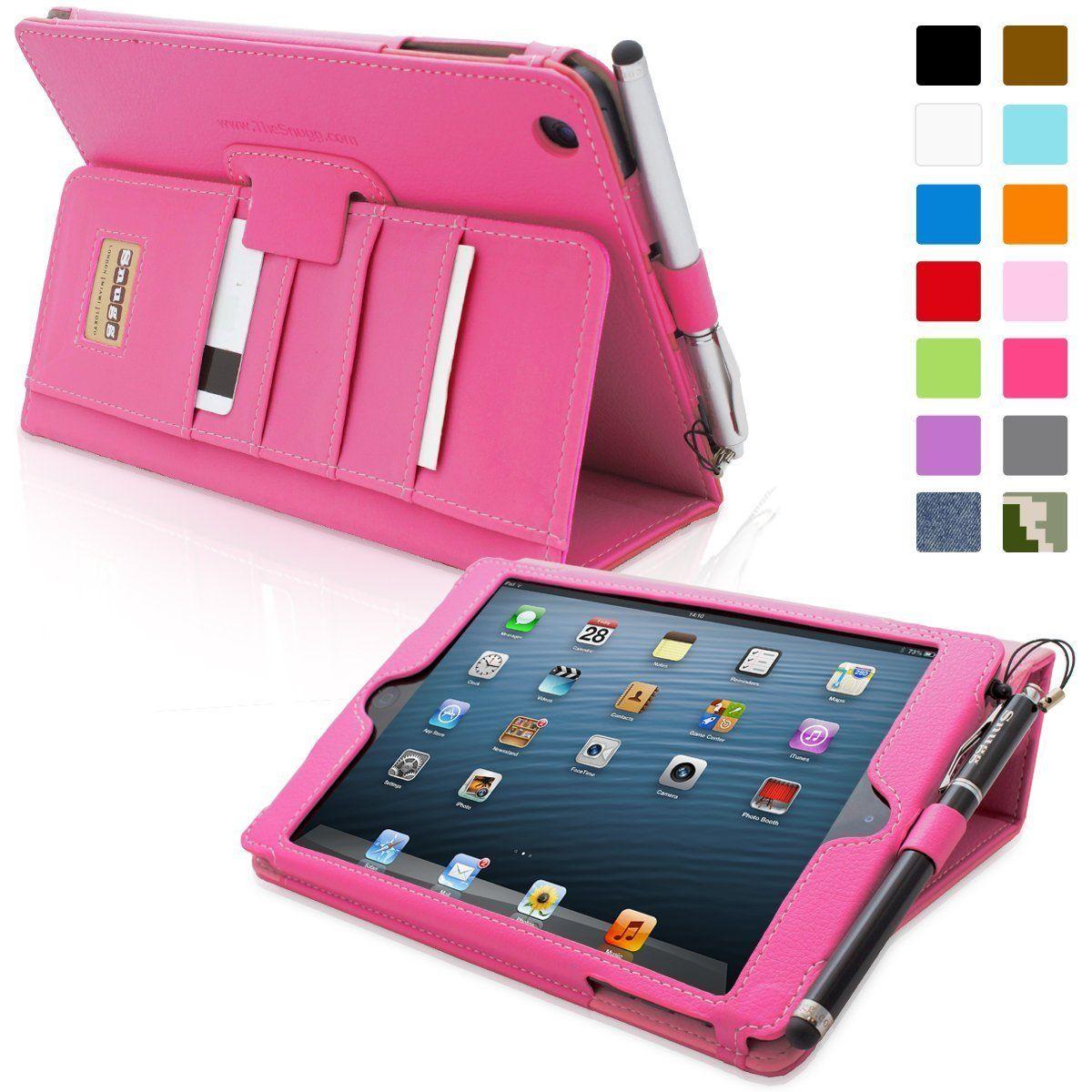 Amazon.com: iPad Mini & Mini 2 Case, Snugg - Executive Smart Cover With Card Slots & Lifetime Guarantee (Hot Pink Leather) for Apple iPad Mini & Mini 2: Computers & Accessories