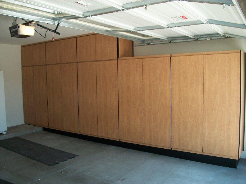 Shelves And Full Natural Wooden Also Garage Cabinets Diy Garage