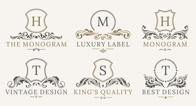Retro Royal Vintage Shields Logotype Set Luxury Logo Design Template Luxury Logo Design Luxury Logo Simple Logo Design