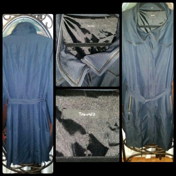 Elie Tahari Spring/Fall Trim Line Trench Coat. Mint condition Elie Tahari Soft Denim Trench Coat. Like New. Tahari Jackets & Coats Trench Coats