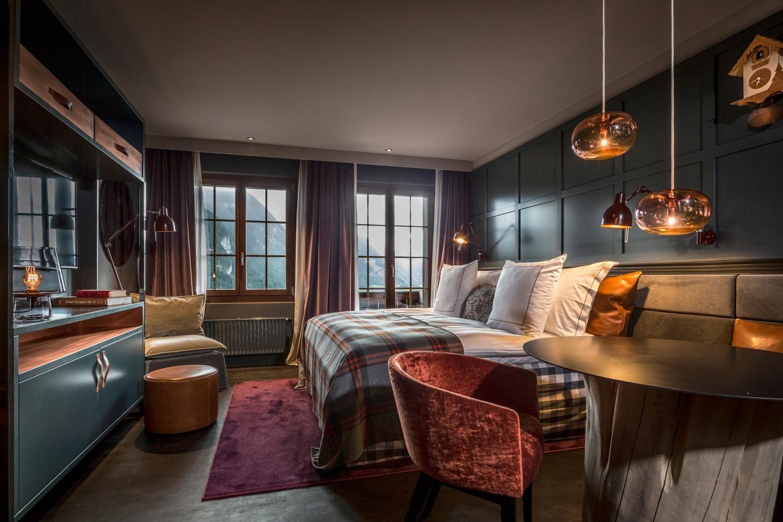 Bedroom interior setting switzerlandus new playground  alpine chalet swiss alps and natural
