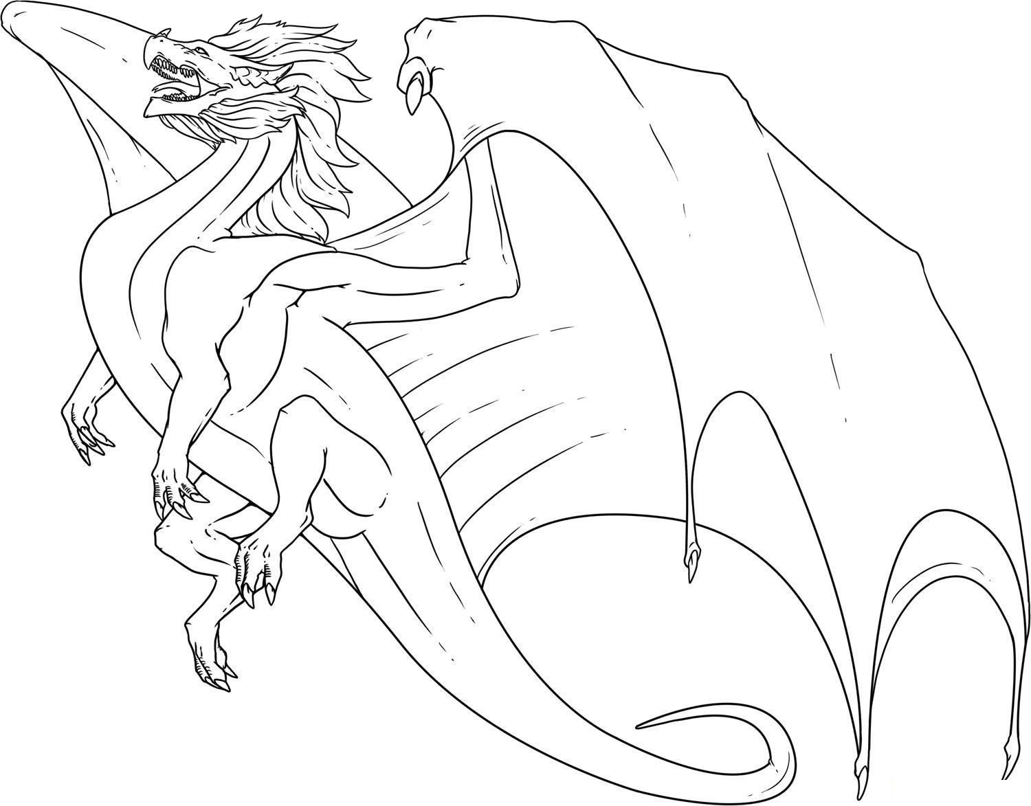 This Dragon Has A Large Wing | Dragons | Dragon coloring ...