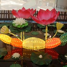Lighted lotus lantern for mall decoration