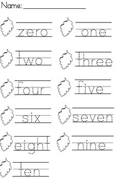 Tracing And Writing Number Words 0 5 Writing Numbers Number Words Worksheets Writing Worksheets