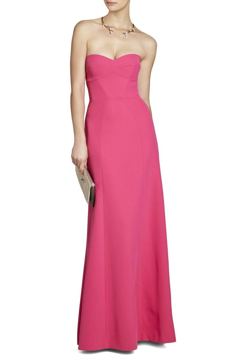 BCBG Max Azria Surrey Strapless Fitted Bustier Gown | tickled my ...