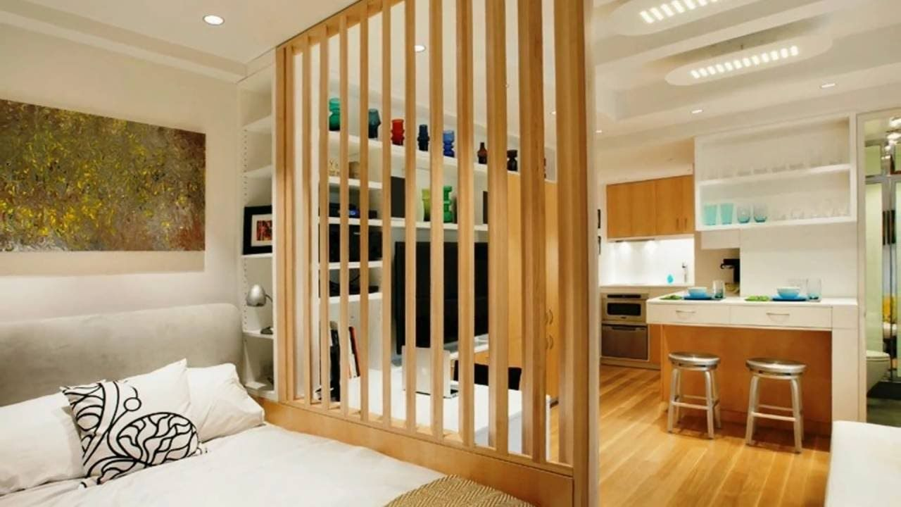 These Are Innovative And Creative Room Divider Ideas That Will Surely Make Your Home And Your R Tiny Studio Apartments Studio Apartment Design Apartment Layout