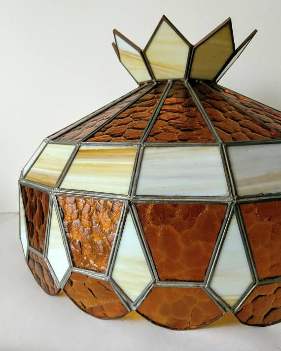 Large Stained Glass Hanging Lampshade Pool Table Bar Kitchen