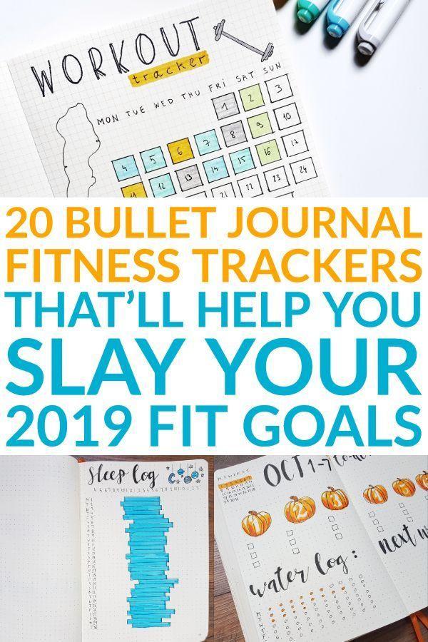 Bullet Journal Fitness Tracker Ideas [Body Positivity] -  Fitness Goals - #Body #Bullet #Fitness #Go...