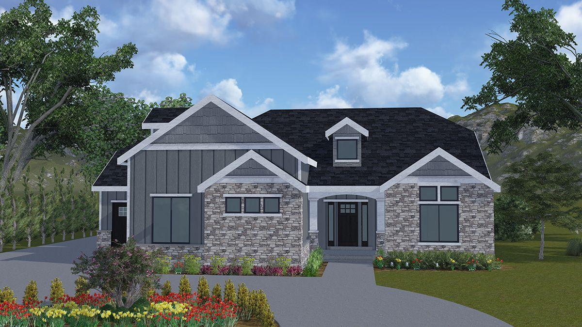 Brookings - A rambler style house plan - Walker Home Design ...