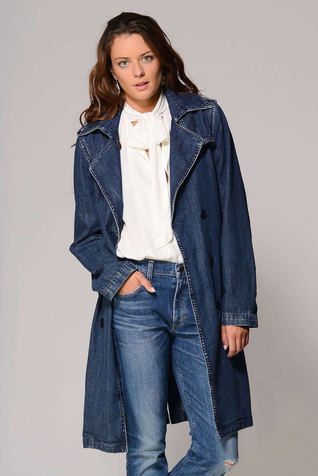 BlankNYC Salty Denim Trench Coat | Denim trench coat, Trench and ...