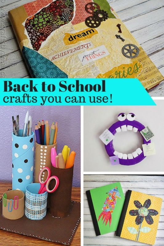 Back To School Crafts You Can Use With Images School Crafts
