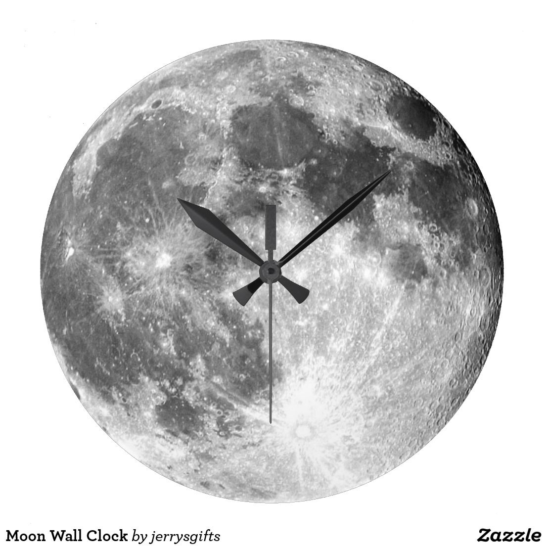 Moon Wall Clock Custom Funny Gifts Pinterest Wall Clocks