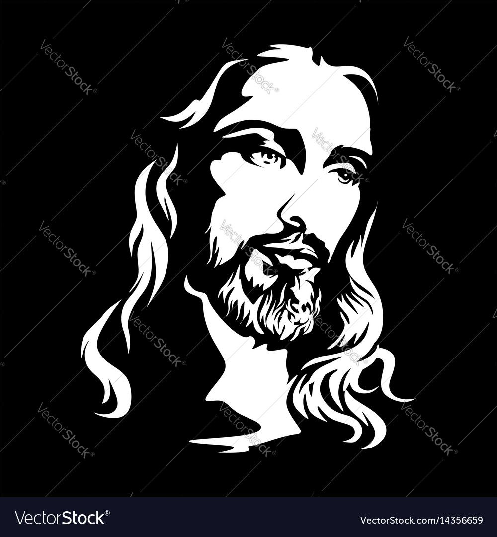 The Face Of Jesus Christ Download A Free Preview Or High Quality Adobe Illustrator Ai Eps Pdf And High Resol Jesus Art Drawing Silhouette Art Jesus Drawings