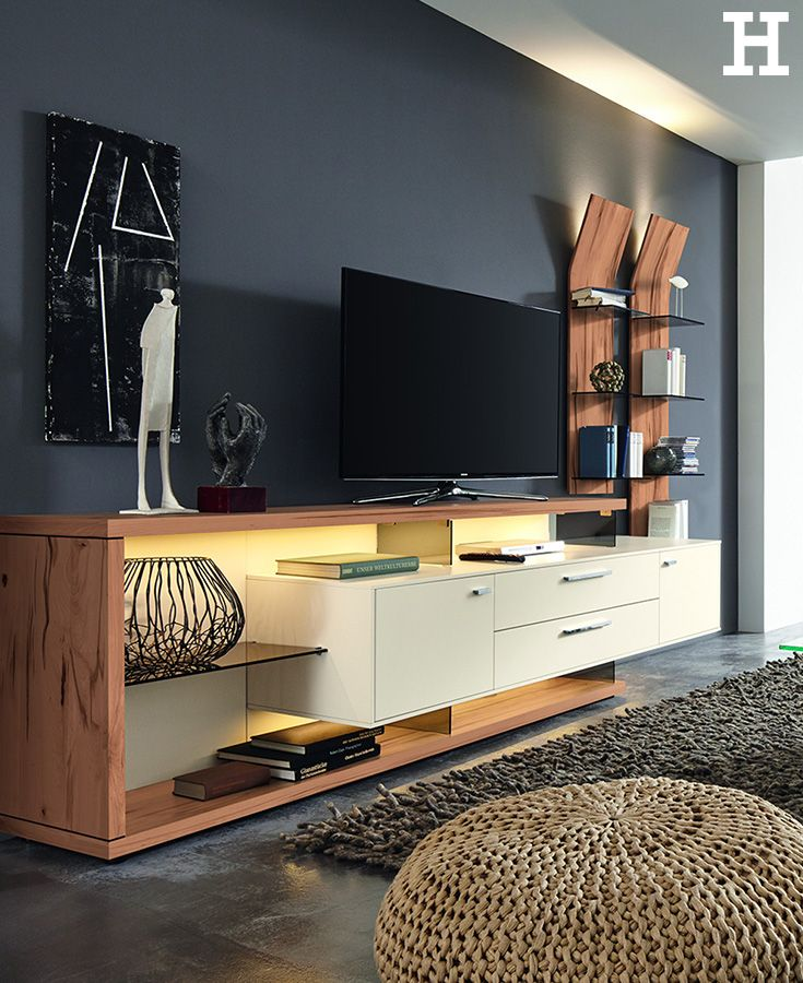 wohnwert wohnwand ww media tv comode pinterest. Black Bedroom Furniture Sets. Home Design Ideas