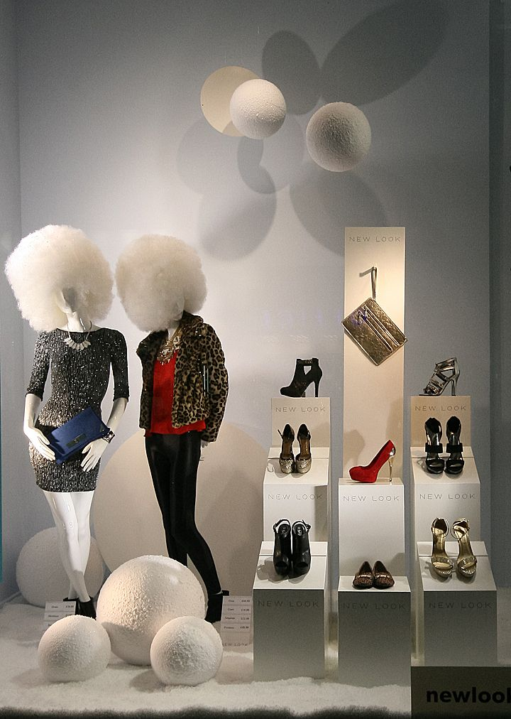 New Look windows 2013 Winter, London visual merchandising