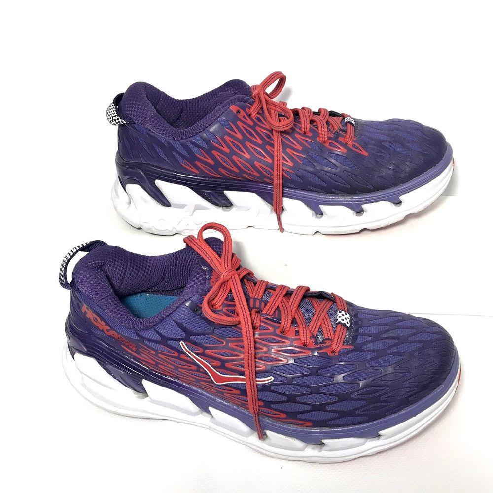 0cc62c01347dbc Hoka One One Womens Vanquish 2 Size 7.5 Corsican Blue Poppy Red Running  Shoes  HokaOneOne