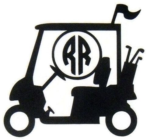 Vinyl Decal Yeti Cup Decal Golf Vinyl DecalMonogramed Decal For - Vinyl for cup