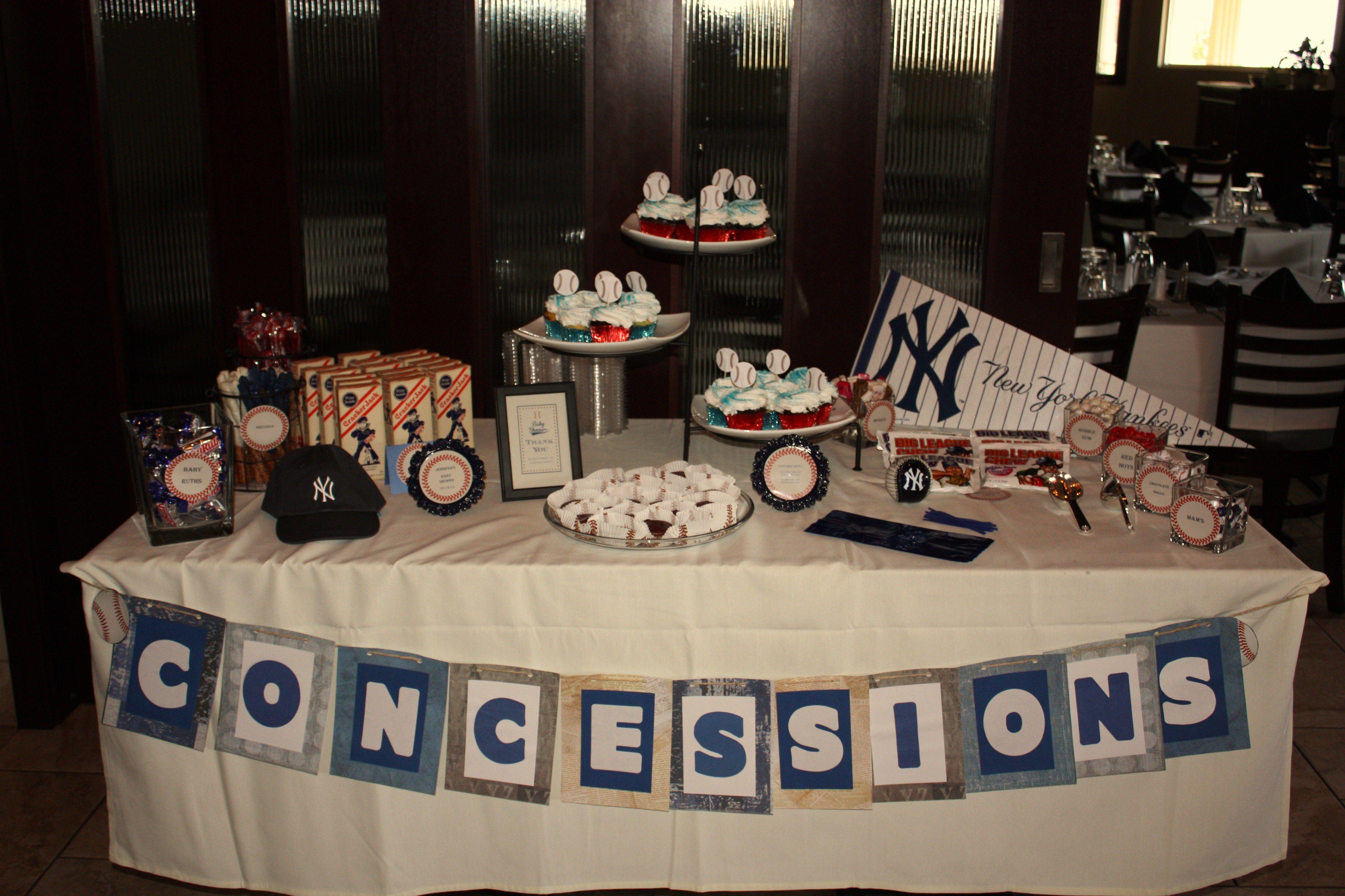 Yankees, Baseball, Baby Shower Baseball baby shower
