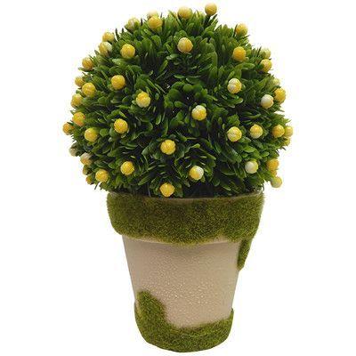 Silk flower depot lemon drop round topiary in pot products indoor plants mightylinksfo