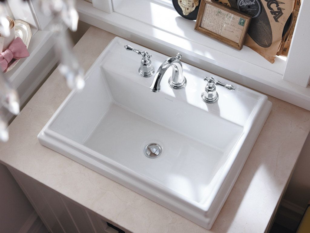 drop in bathroom sinks. Give A Fashionable Way To Your Bath Space By Choosing KOHLER Tresham  Vitreous China Drop In Bathroom Sink White With Overflow Drain Image Result For K 2075 8 G9 Serif Self Rimming