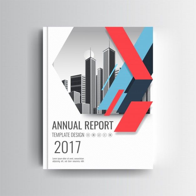A Modern Annual Report Cover Template With