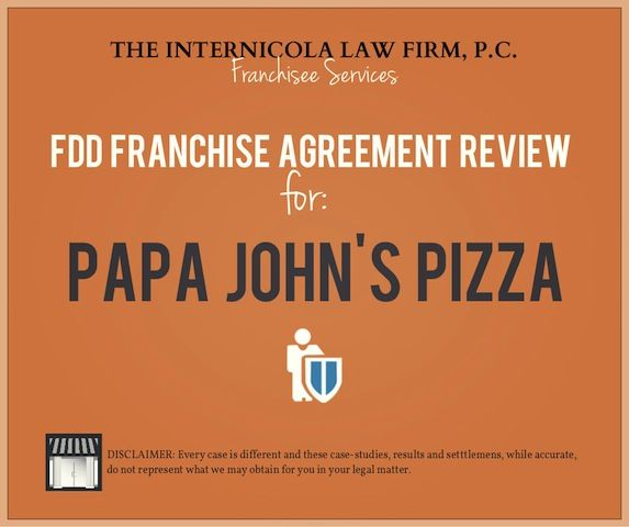 Papajohns Fdd  Franchise Agreement Review  Buy A Franchise