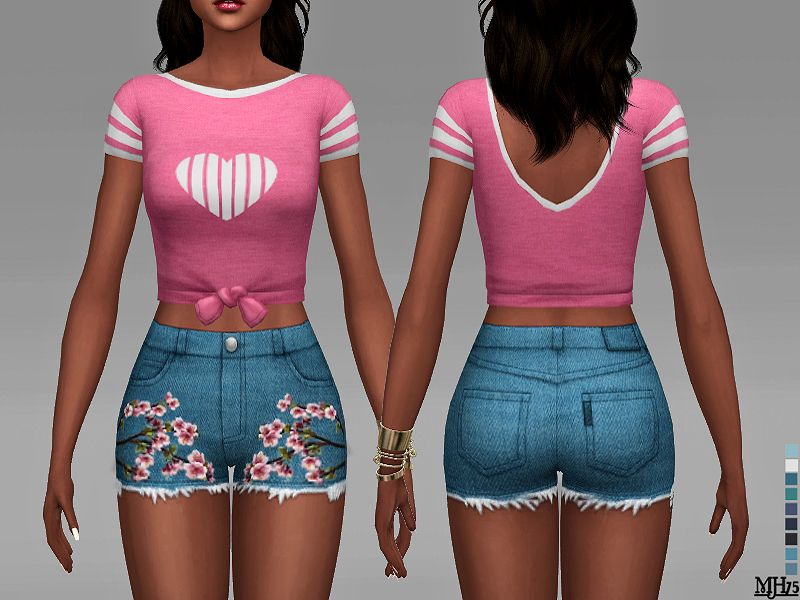 7 adorable tops for girls! Found in TSR Category sims 4