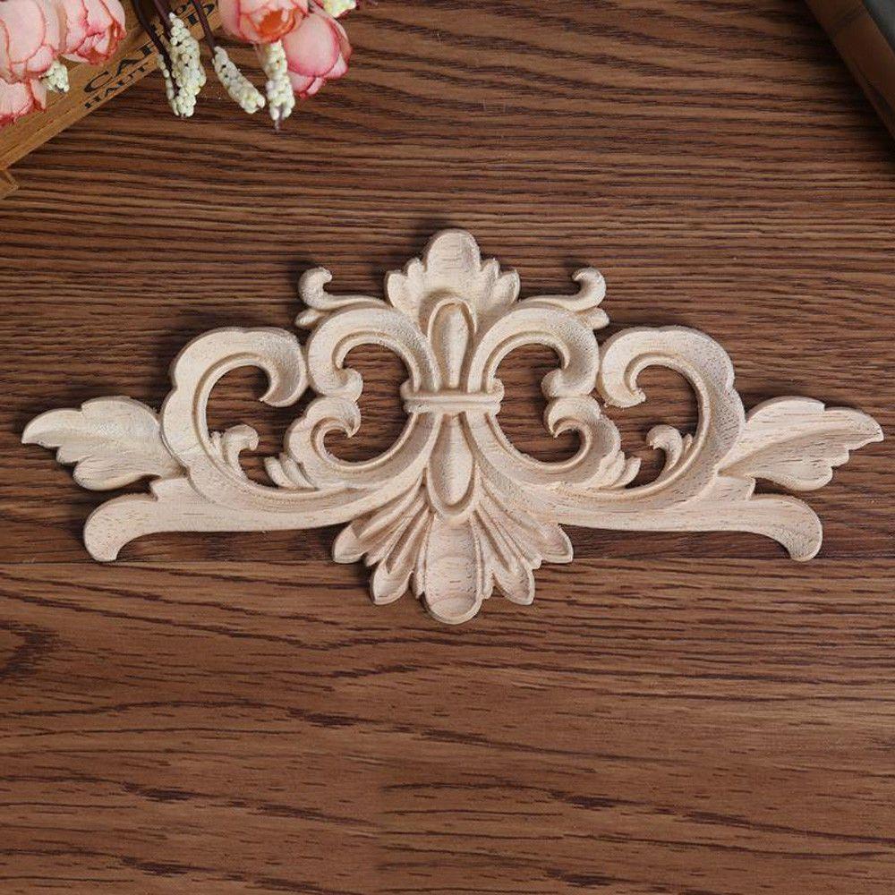 4 x Furniture Drawer Door Corners Resin Appliques Mouldings Onlays Decals scroll
