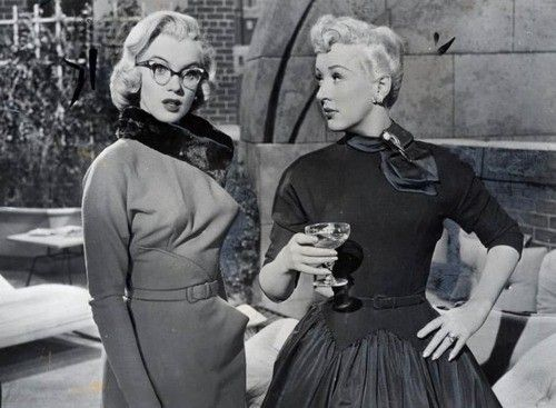 Betty Grable and Marilyn Monroe in gentlemen prefer blondes