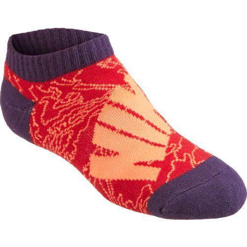 Nike Boys Graphic Cushion No Show Socks  Pair Red Orange Purple Multi Size Small Athletic Socks