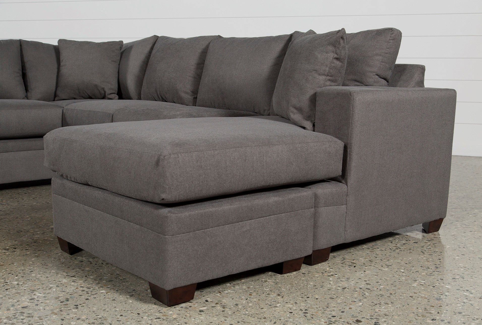 Best Kerri Charcoal 2 Piece Sectional With Right Arm Facing 400 x 300