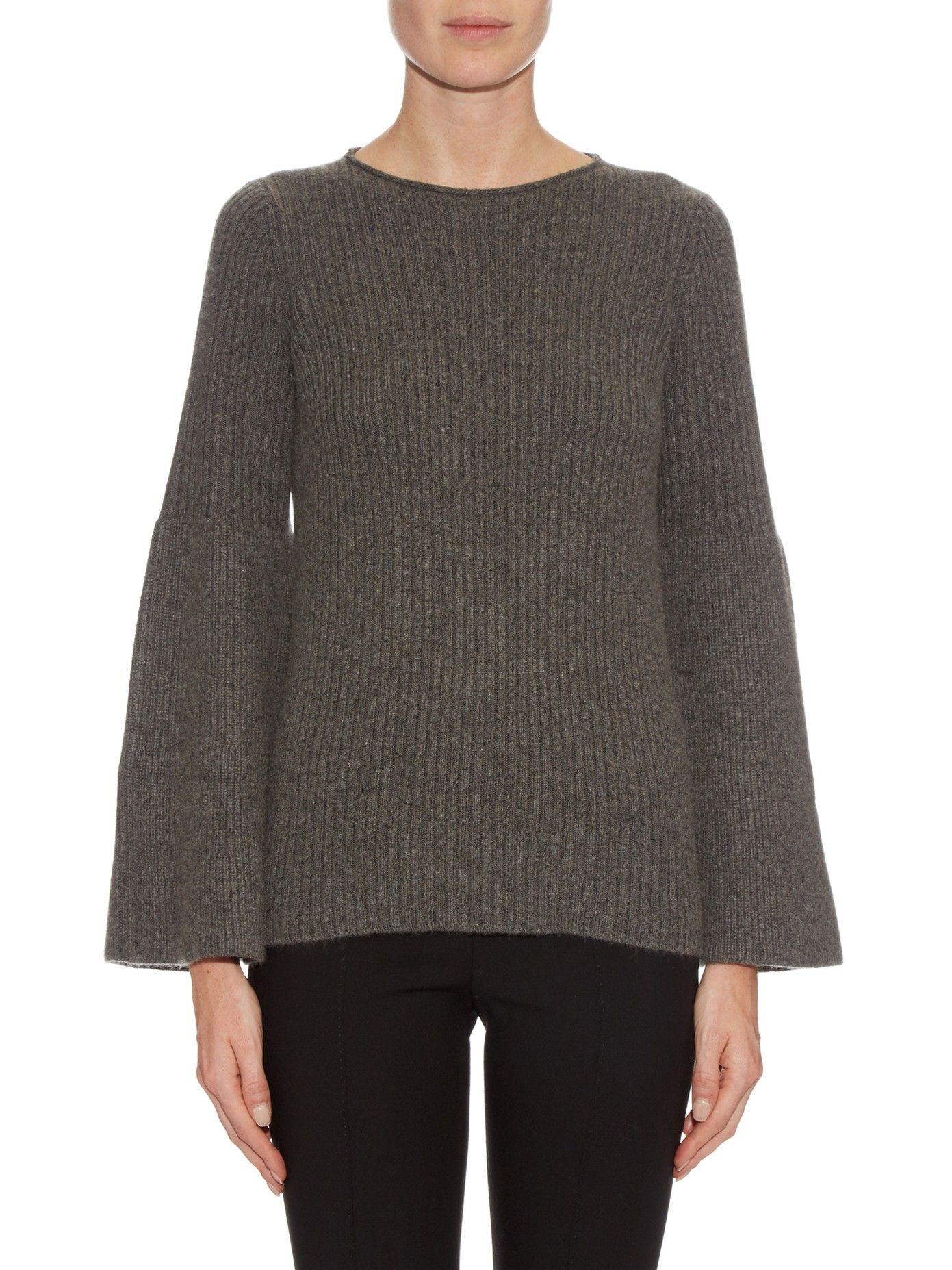 Atilia cashmere flared-sleeve sweater   The Row   MATCHESFASHION.COM
