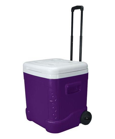 Igloo Purple 60 Qt Push Button Handle Cooler Zulily Ice Chest