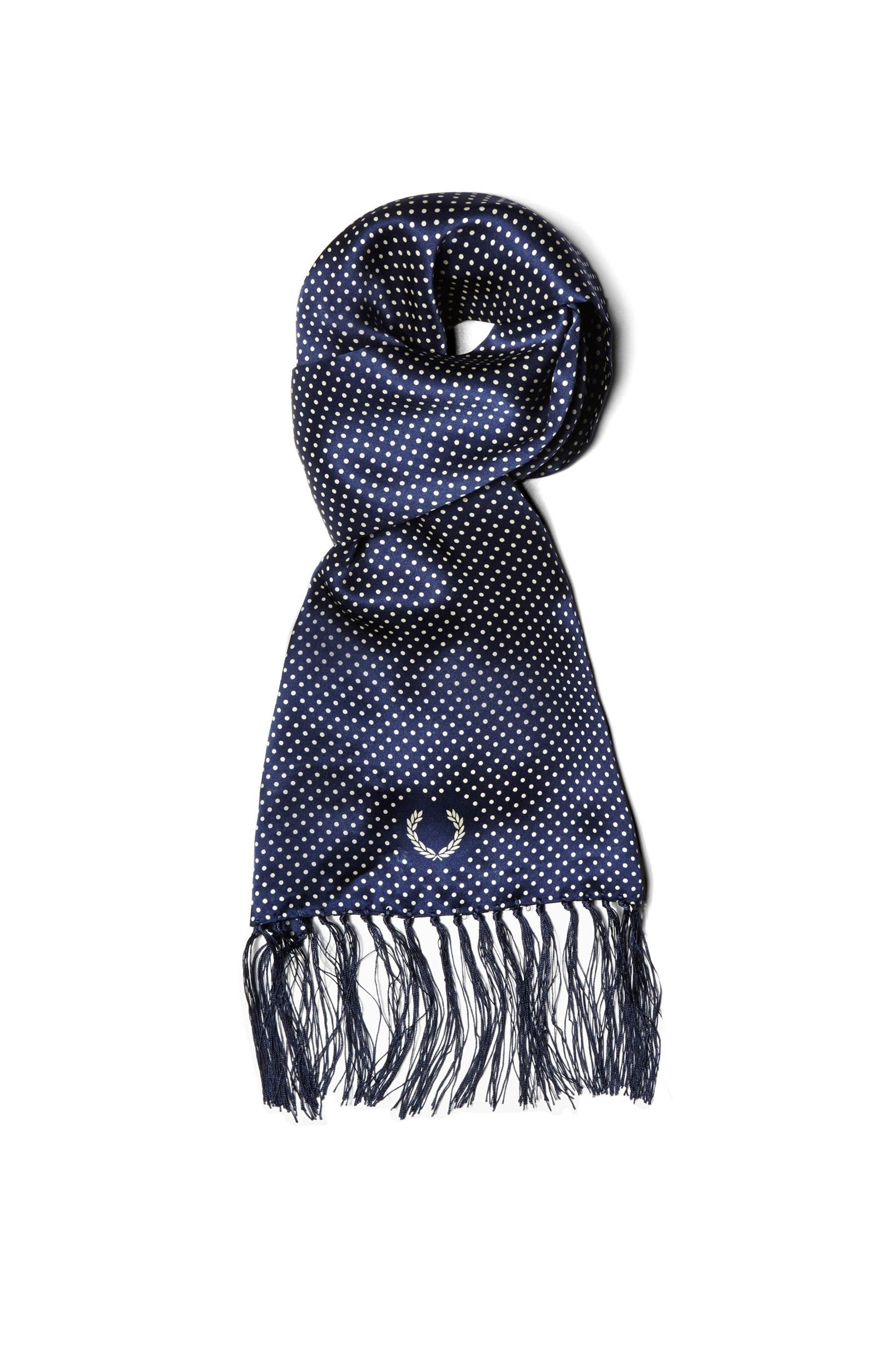 Fred Perry - Tootal Polka Dot Scarf French Navy