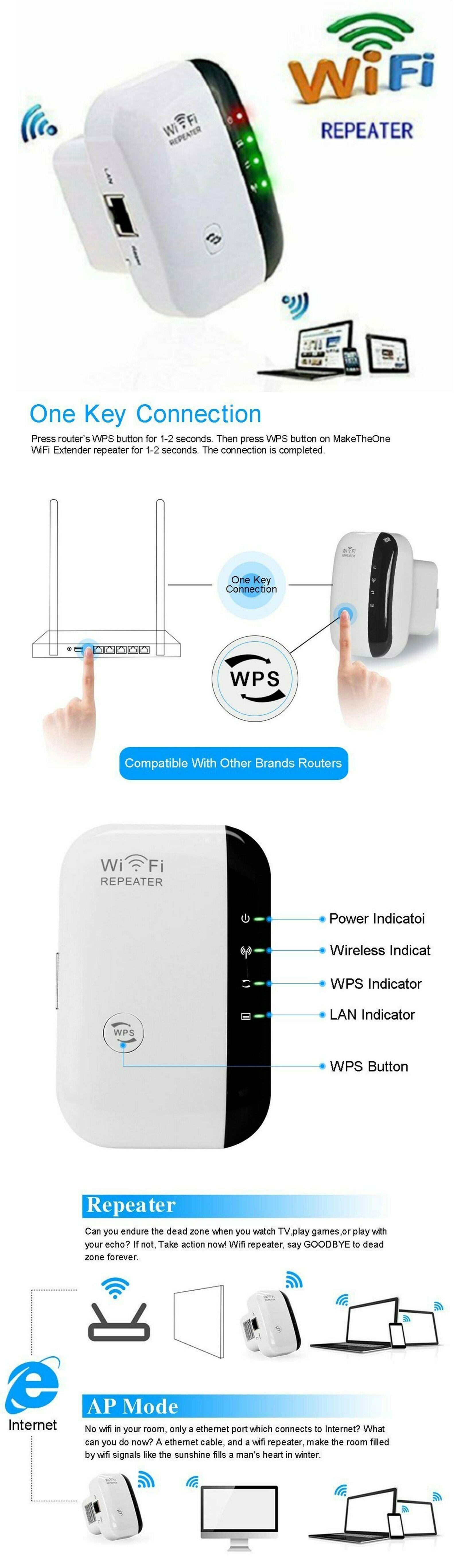 Wifi Blast Range Mini 2.4G Portable Booster Wireless Wlan Signal Range Extender