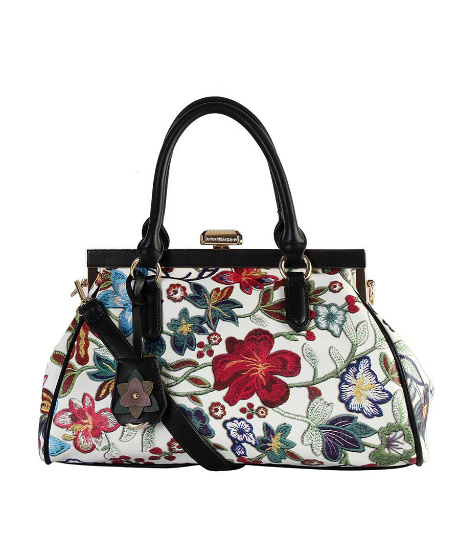 Love This Look At Diophy White Red Floral Satchel On Zulily Fossil Keyper Cross Body Calypso Today