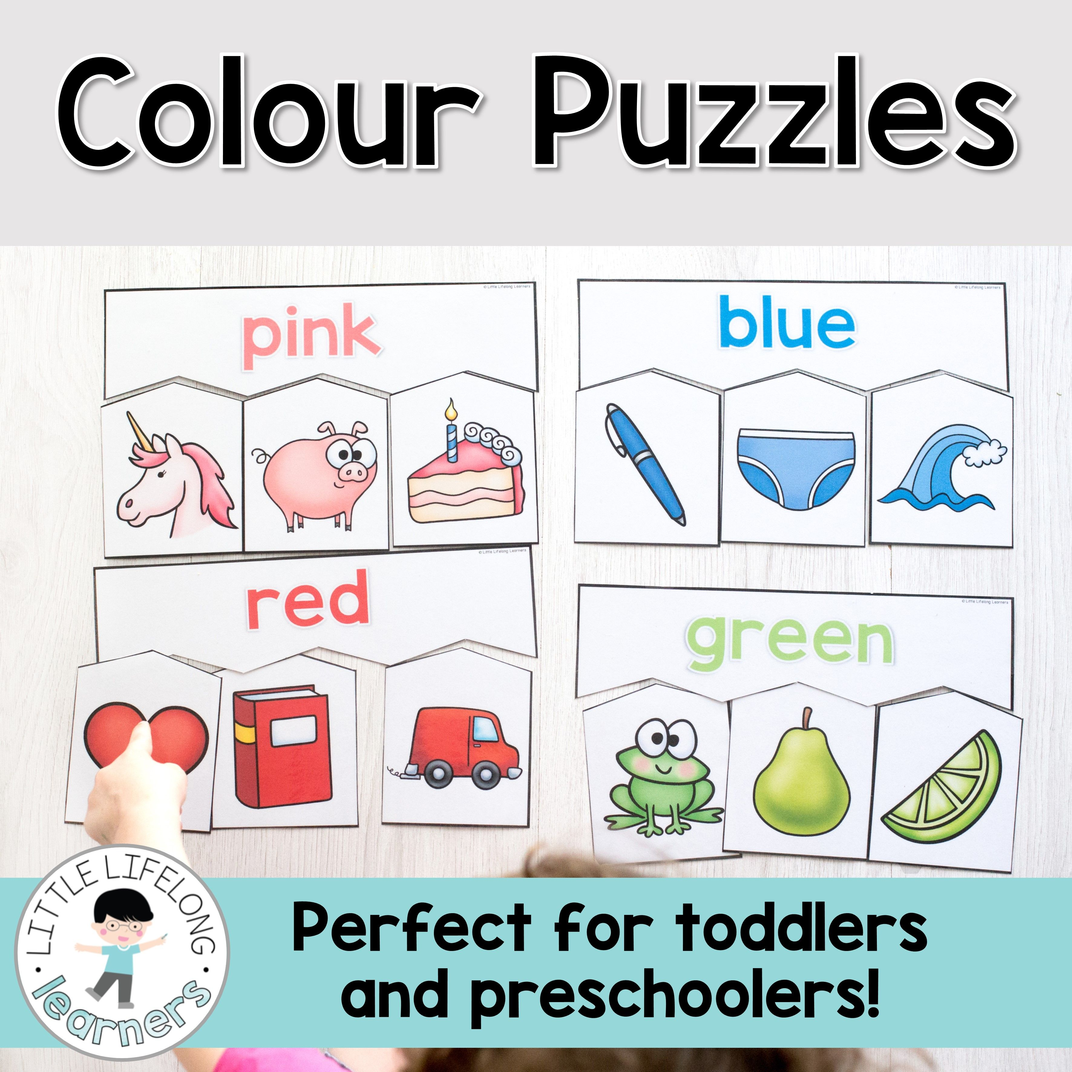 Colour Puzzles For Toddlers And Preschoolers Color Puzzle Toddler Preschool Preschool Activities [ 3543 x 3543 Pixel ]